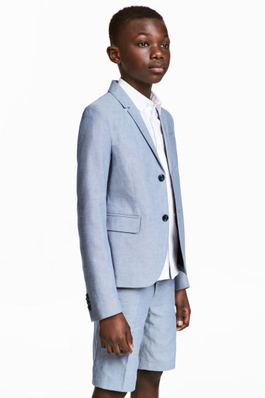 Blazer in cotone - Blu mélange -  | H&M IT