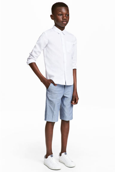 Suit shorts - Blue marl -  | H&M 1