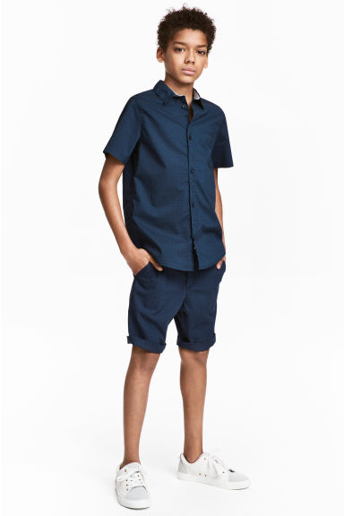 Shorts with a belt - Dark blue - Kids | H&M CA 1