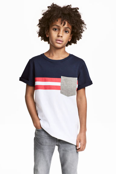T-shirt - White/Red - Kids | H&M CN