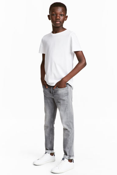 Skinny fit Jeans - Grey washed out - Kids | H&M 1