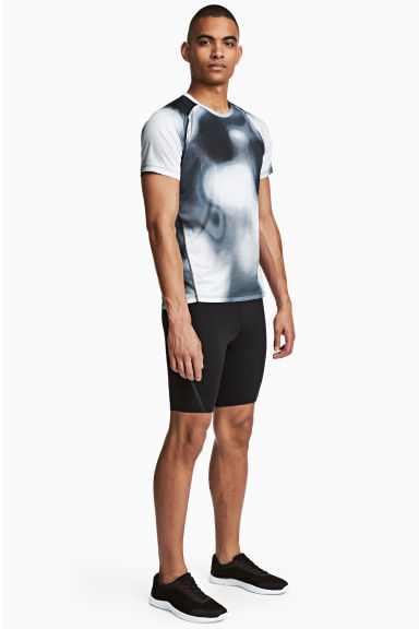 Short running tights - Black - Men | H&M CN 1