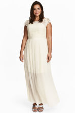 H&M+ Long dress - Natural white - Ladies | H&M CN 1