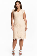 H&M+ Lace dress - Light beige - Ladies | H&M CN 1