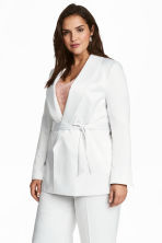 H&M+ Satin jacket - White -  | H&M 1