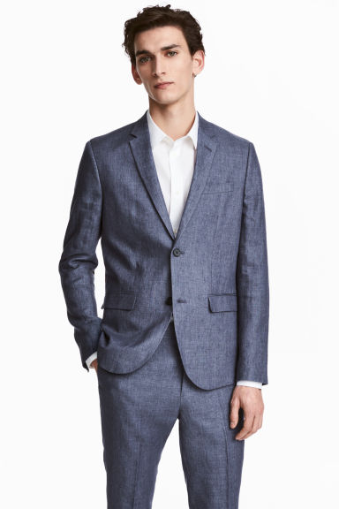 Jacket Slim fit - Blue marl - Men | H&M CA 1