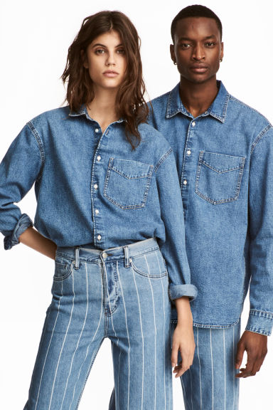 Uni Shirt 1 - Denim blue - Ladies | H&M 1