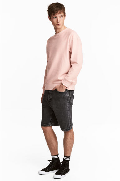 Denim shorts - Black washed out - Men | H&M CN 1