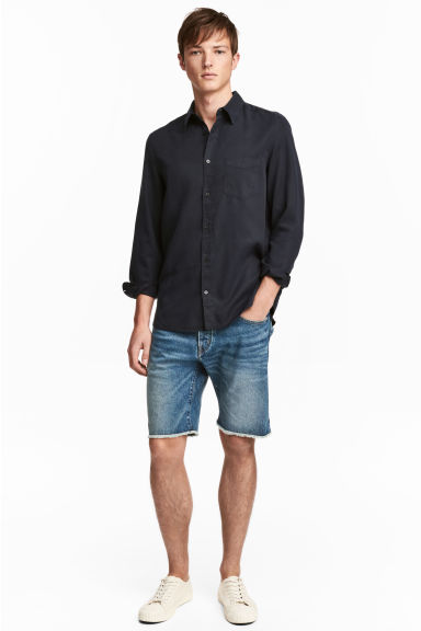Denim shorts - Denim blue - Men | H&M CN 1