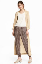 Pull-on trousers - Pink/Patterned - Ladies | H&M CN 1