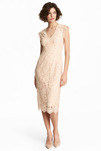 Lace dress - Light beige - Ladies | H&M