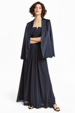 Draped bandeau dress - Dark blue - Ladies | H&M 1
