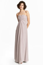 Draped bandeau dress - Light mole -  | H&M 1