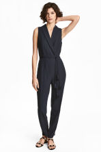 Dressy jumpsuit - Dark blue - Ladies | H&M 1