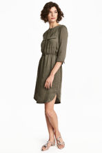 Shirt dress - Dark khaki green - Ladies | H&M 1