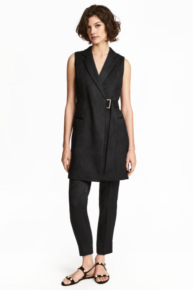 Sleeveless jacket - Black - Ladies | H&M
