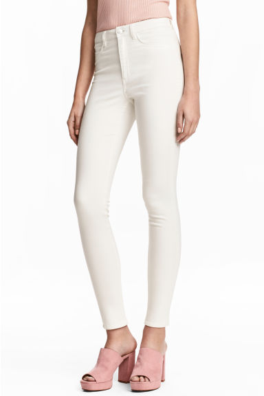 Super Skinny High Jeans - Blanc -  | H&M BE 1