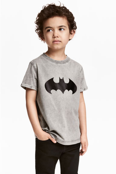 Printed T-shirt - Grey/Batman - Kids | H&M CN 1
