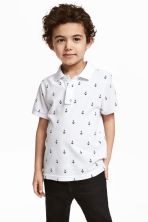 Polo shirt - White/Anchor - Kids | H&M 1