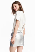 Tie-detail top - White - Ladies | H&M CN 1