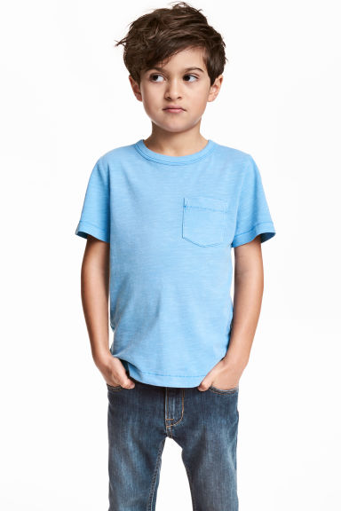 粗紡平紋T恤 - Blue marl - Kids | H&M 1
