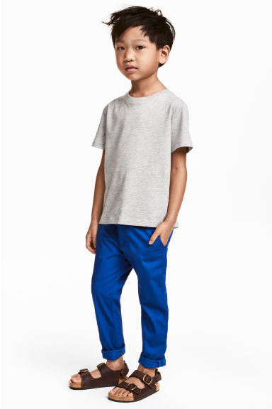 Cotton chinos - Cornflower blue - Kids | H&M CN 1