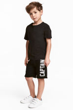 Shorts in felpa - Nero -  | H&M IT 1
