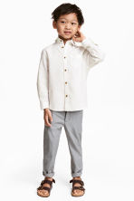 Cotton chinos - Grey - Kids | H&M 1
