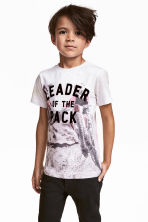 Printed T-shirt - White/Motorbike - Kids | H&M 1