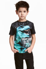 T-shirt con stampa - Nero/dinosauro -  | H&M IT 1