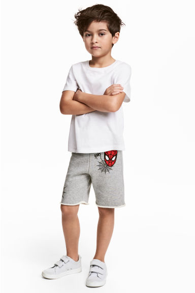 Sweatshirt shorts - Grey/Spiderman - Kids | H&M CN 1