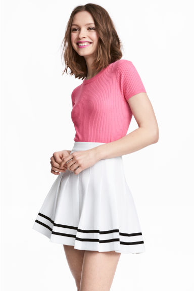 Fine-knit top - Pink - Ladies | H&M