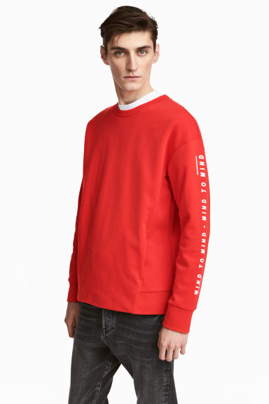 Printed sweatshirt - Red - Men | H&M