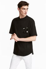 T-shirt with appliqués - Black - Men | H&M 1