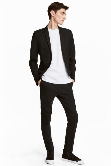 Suit trousers Skinny fit - Black - Men | H&M CN