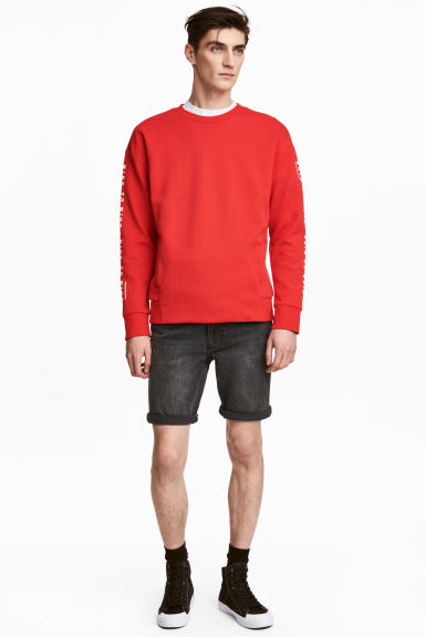 Denim shorts - Black washed out - Men | H&M
