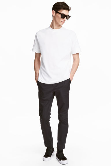 Cotton chinos Slim fit - Anthracite grey - Men | H&M CN 1