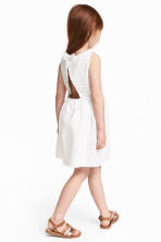 Embroidered dress - White - Kids | H&M CN 1