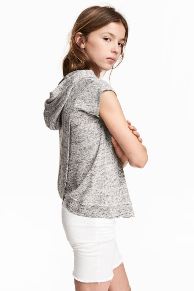 Hooded top - Grey marl -  | H&M 1