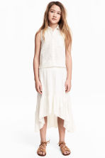 Asymmetric skirt - White -  | H&M 1