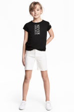 Long twill shorts - White - Kids | H&M 1