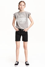 Long twill shorts - Black - Kids | H&M 1