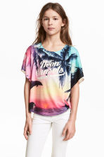 Circular top - Pink/Palms - Kids | H&M CN 1