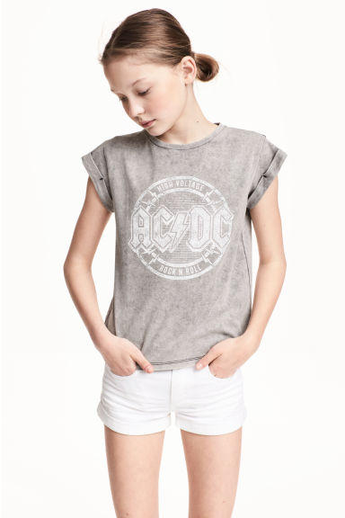 Top in jersey con stampa - Grigio/AC/DC -  | H&M IT 1