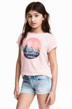 Printed top - Light pink -  | H&M 1