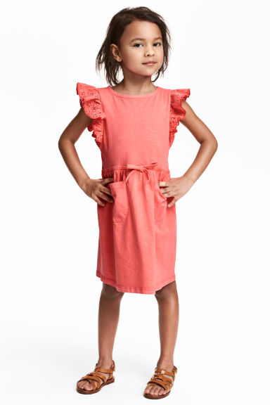 Jersey dress - Coral pink - Kids | H&M 1