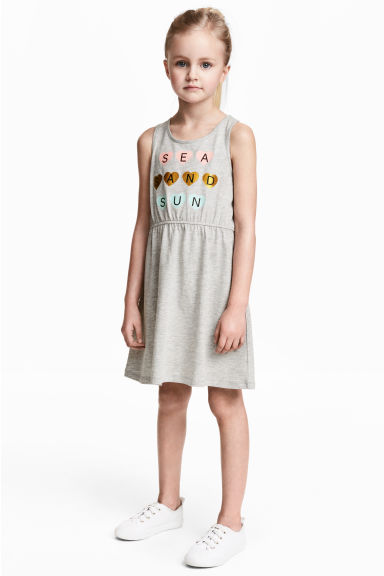 Jersey dress - Grey marl -  | H&M 1