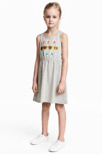 Jersey dress - Grey marl - Kids | H&M CN 1