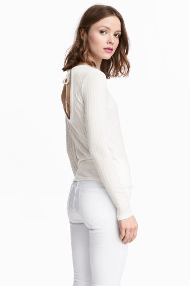 Fine-knit jumper - Natural white - Ladies | H&M
