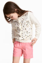 Cardigan with sequins - Natural white/Gold -  | H&M 1
